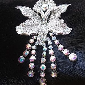 Vintage gorgeous Crystal encrusted broach